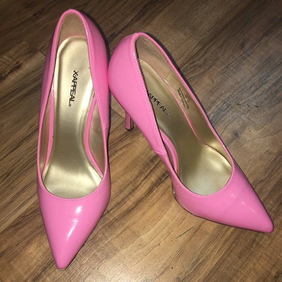 Bright Pink Shoes Heels